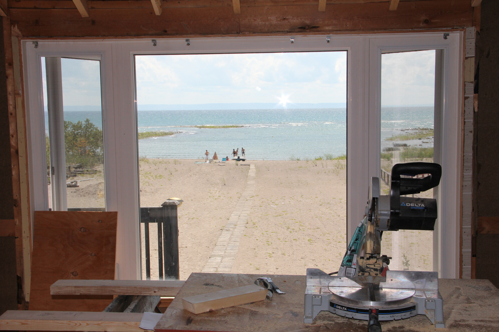 View of the beach from the second floor.